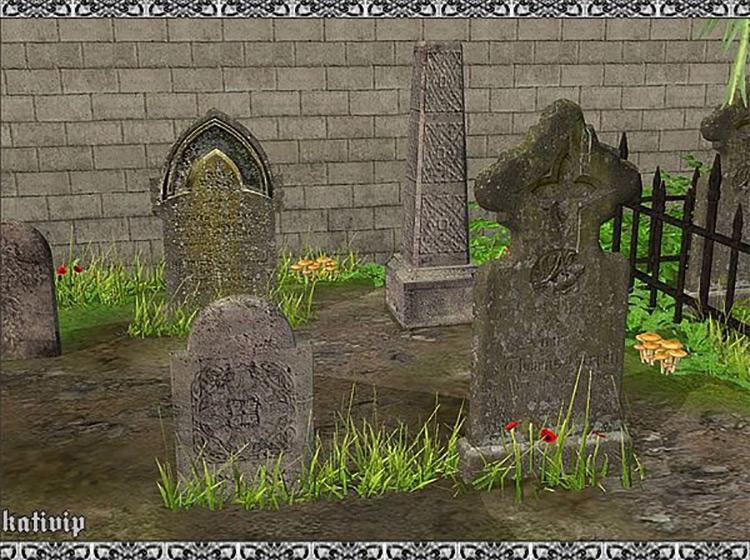 Graveyard Set for Sims 4