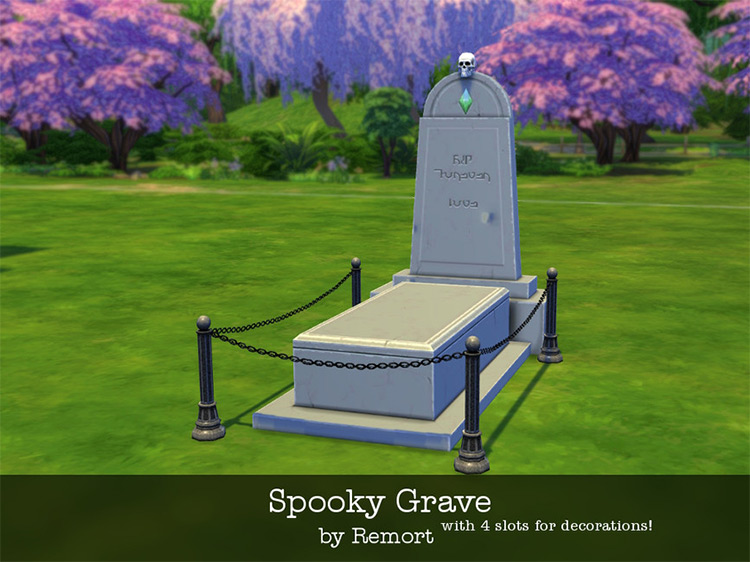 Spooky Grave for Sims 4