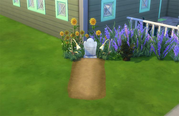 Fresh Grave Sims 4 CC