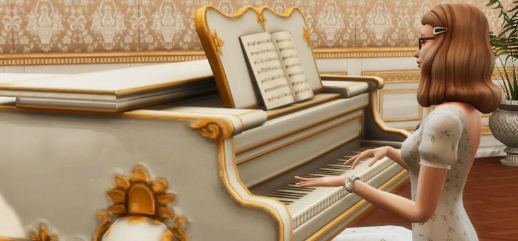 Fancy Piano Pose - Sims 4 Screenshot