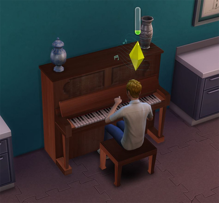 Simple Upright Piano for Sims 4