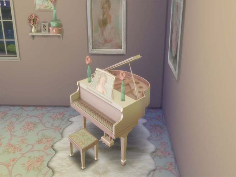 Elegant Piano Pink Sims 4 CC