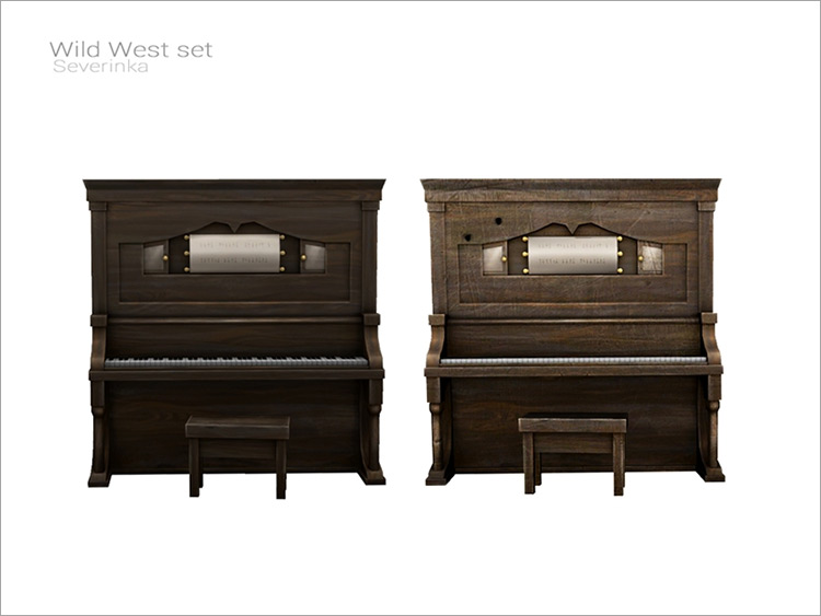 Wild West Piano for Sims 4
