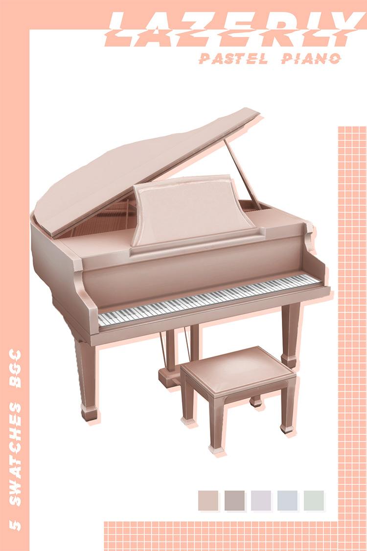 Pastel Piano Sims 4 CC