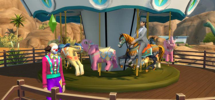 Sims 4 Custom Carnival Carousel