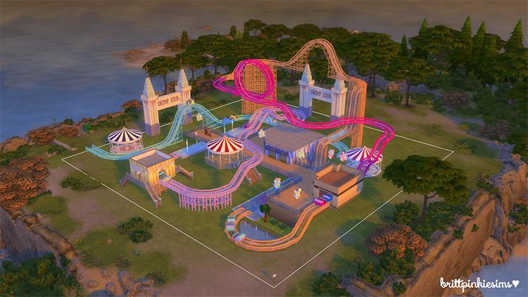 Roller Coaster Set Sims 4 CC
