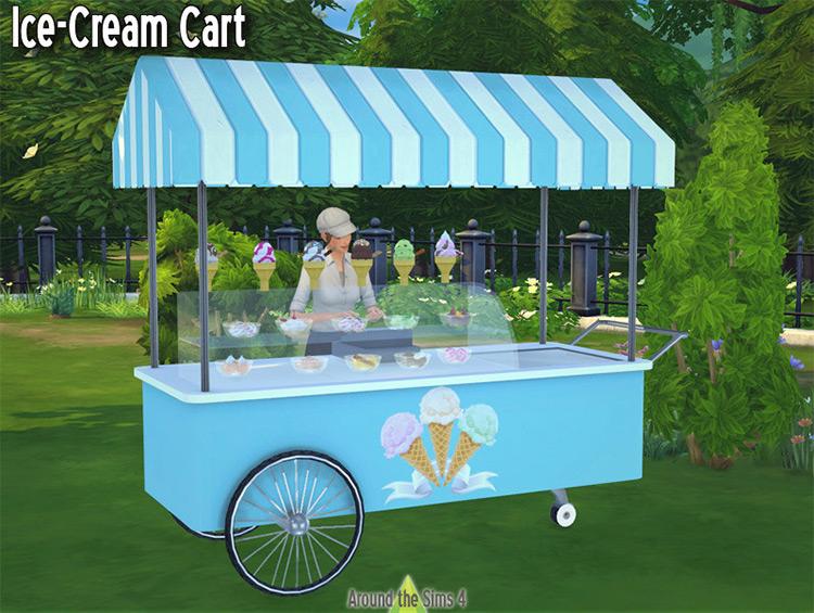 Ice Cream Cart Sims 4 CC