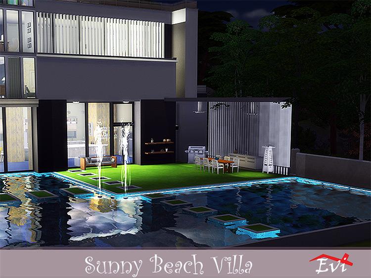 Sunny Beach Villa for Sims 4