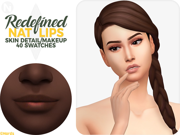 Redefined Nat Lips Sims 4 CC