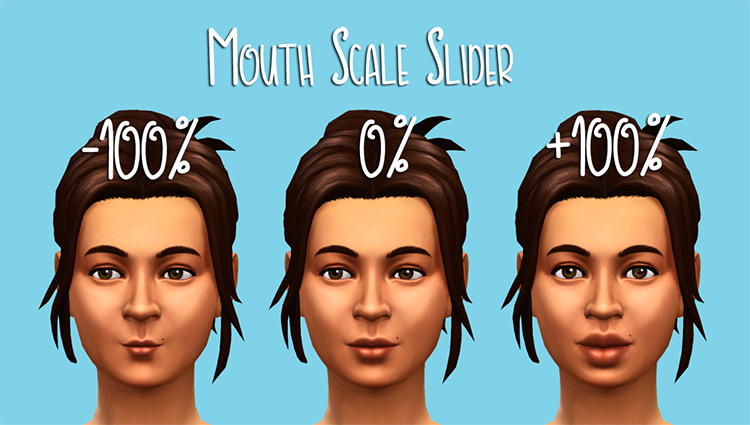 Mouth Scale Slider for Sims 4