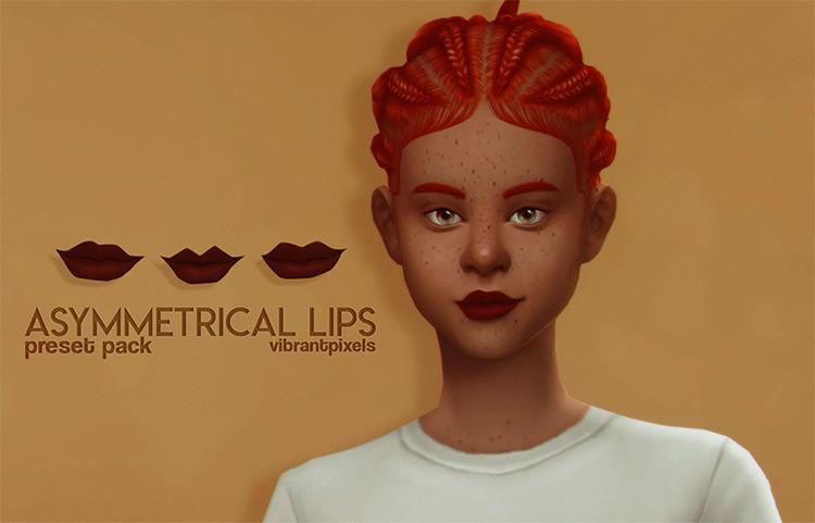 Asymmetrical Lips for Sims 4
