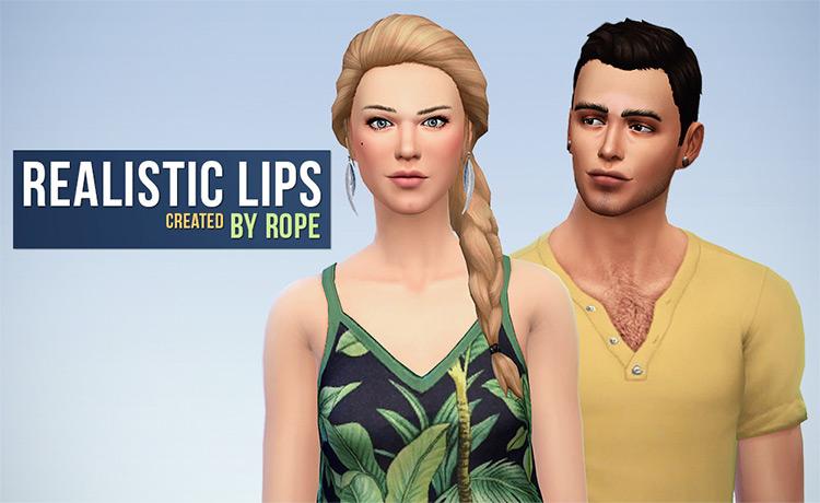 Realistic Lips Sims 4 CC