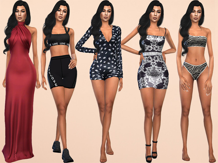 Kourtney Kardashian for Sims 4