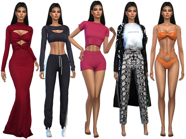 Kendall Jenner for Sims 4
