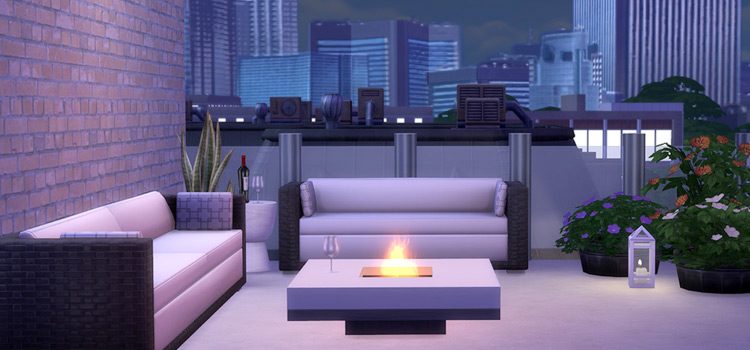 Tic Tac Fire Pit CC in The Sims 4
