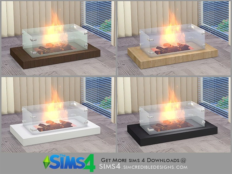 Gloss Fireplace CC for The Sims 4