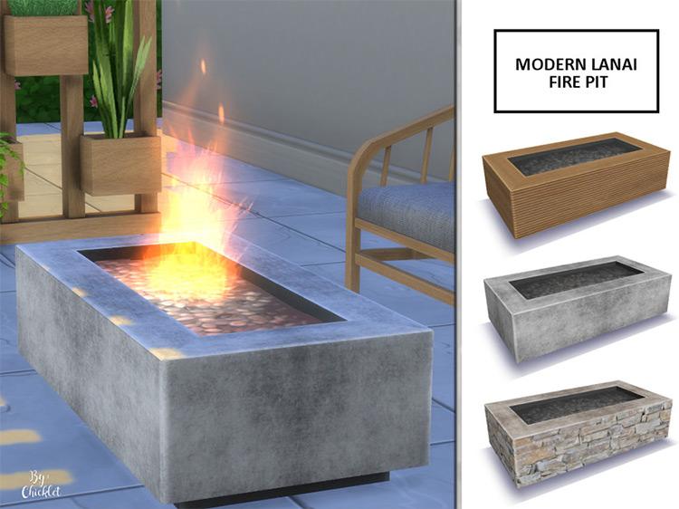 Sims 4 Fire Pit Fire Table Cc All Free Fandomspot