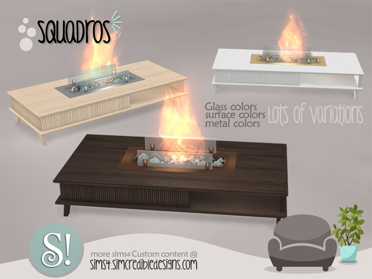 Squadros Fireplace CC - Sims 4
