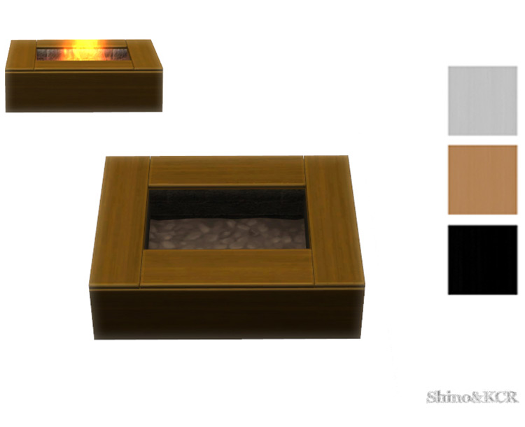 Boxed Outdoor Fireplace CC for The Sims 4