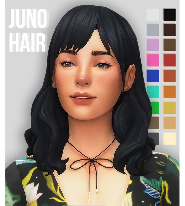 Juno Hair for Sims 4