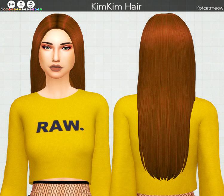 KimKim Hair Sims 4 CC