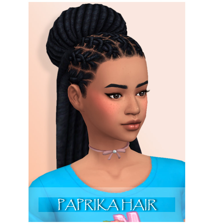 Paprika Hair for Sims 4