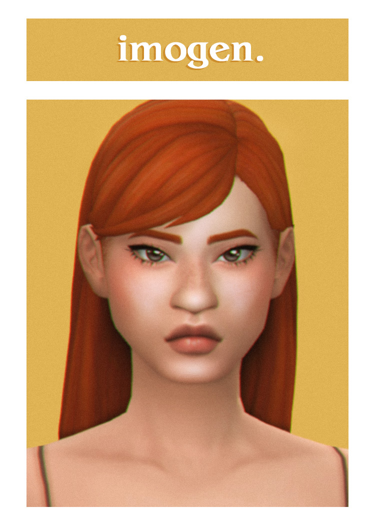 Imogen Hair Sims 4 CC