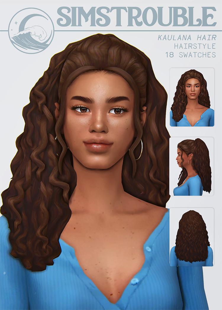 Kaulana Hair for Sims 4