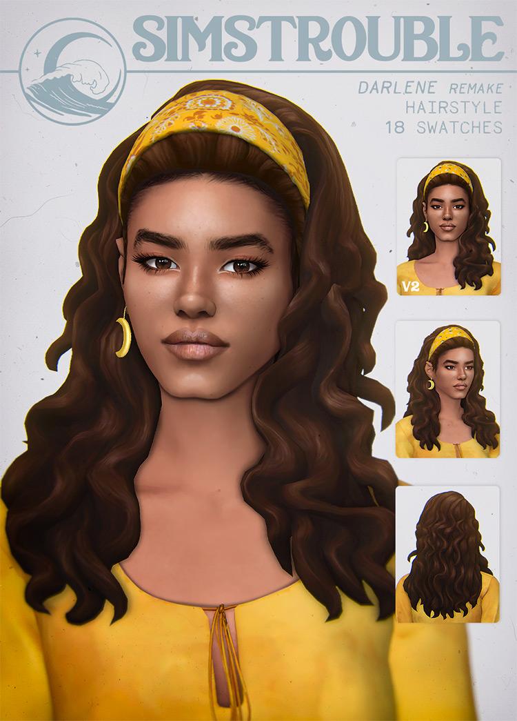 Darlene Hair TS4 CC