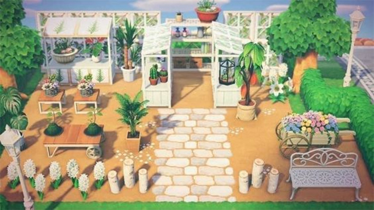 White simplistic greenhouse idea - ACNH