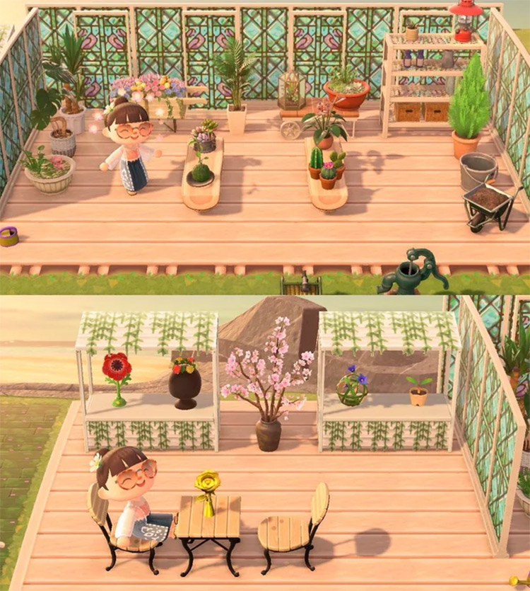 Greenhouse & Flower Stall Idea - ACNH