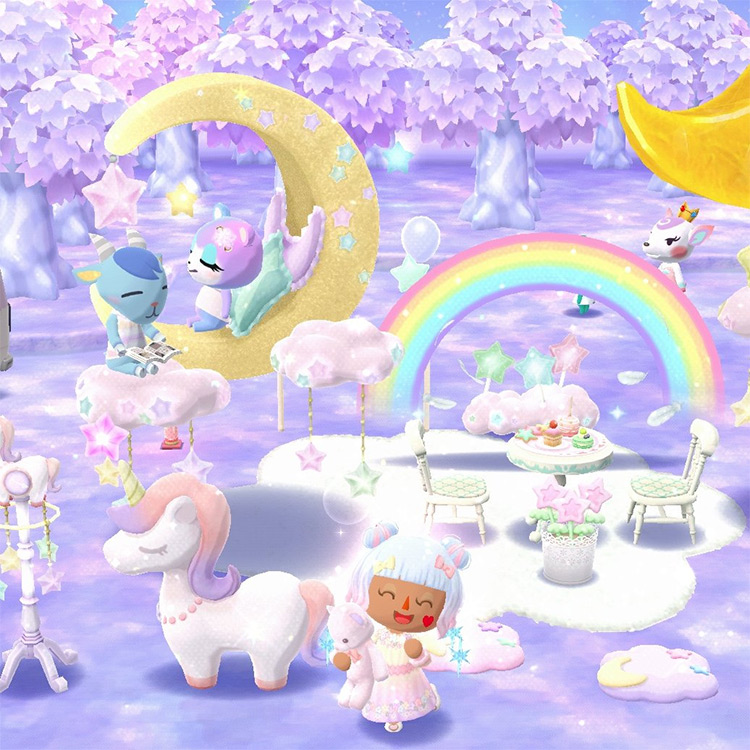 Wonderland Tea Party - ACNH Idea
