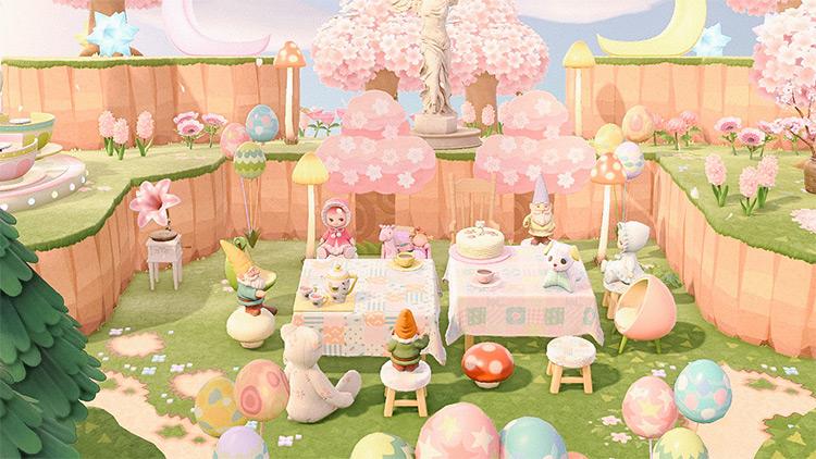 Dainty Pastel Tea Area - ACNH