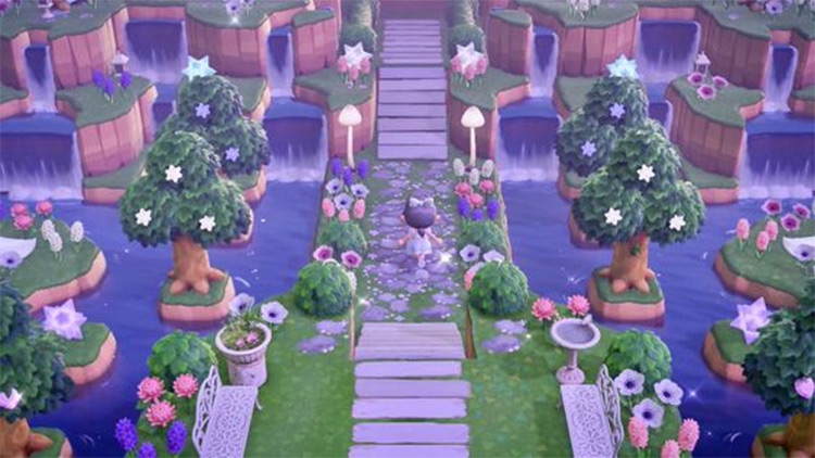 Whimsical Walkway Idea for ACNH