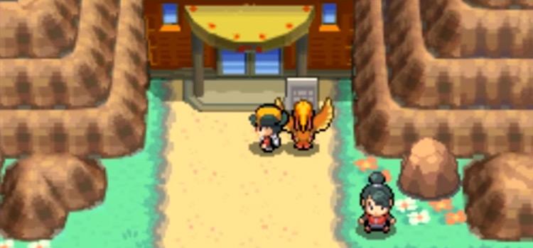 Victory Road Entrance in HeartGold SoulSilver