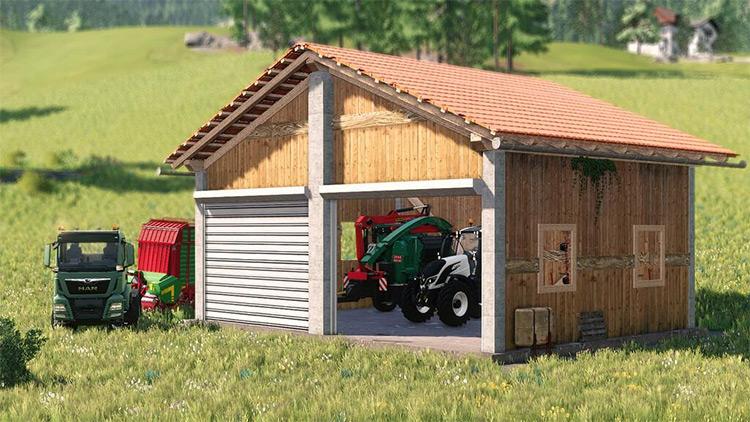 Machine Shed v1.0 Farming Simulator 19 Mod