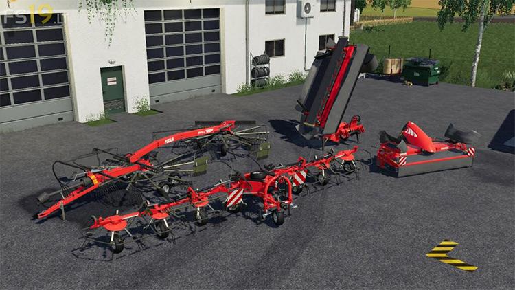 Fella Grassland Implements Pack FS19 Mod