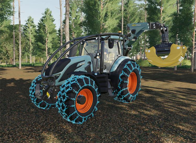 Valtra Forest & Skidding Crane FS19 Mod screenshot
