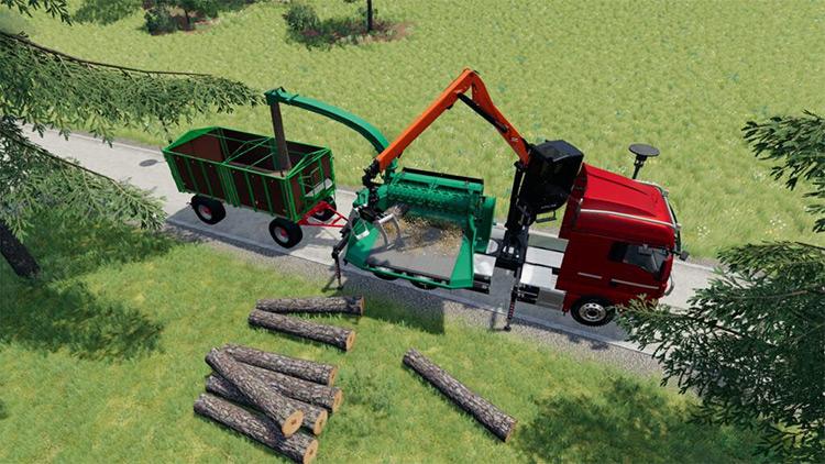 MAN TGX Crusher v1.0 Mod for Farming Simulator 19