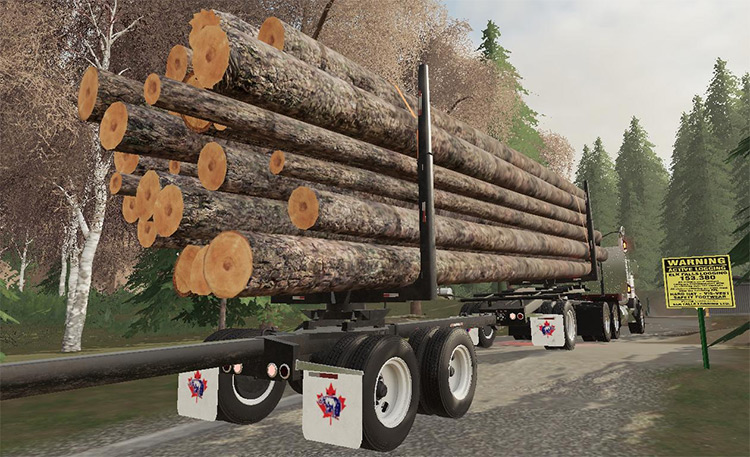 Artic Jeep & Pole Logging Trailers FS19 Mod