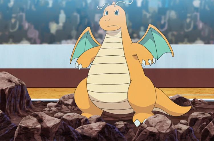Dragonite from Pokemon anime