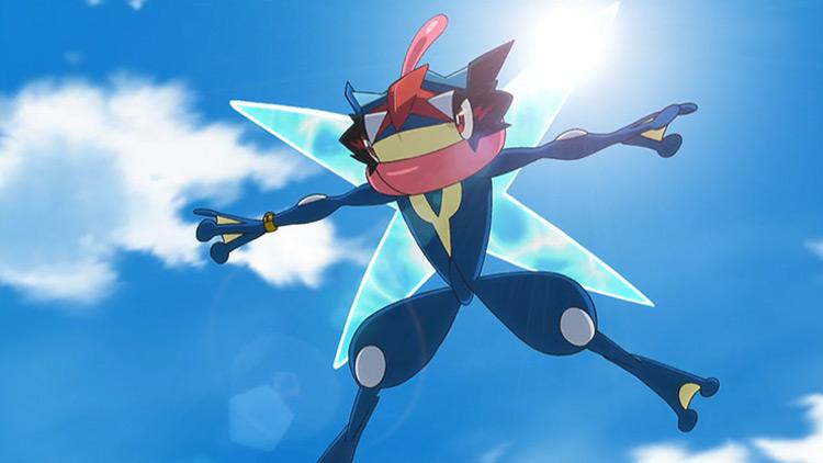 Greninja Pokemon anime screenshot