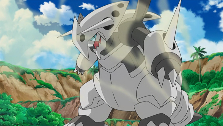 Aggron Steel/Rock Pokemon in the anime