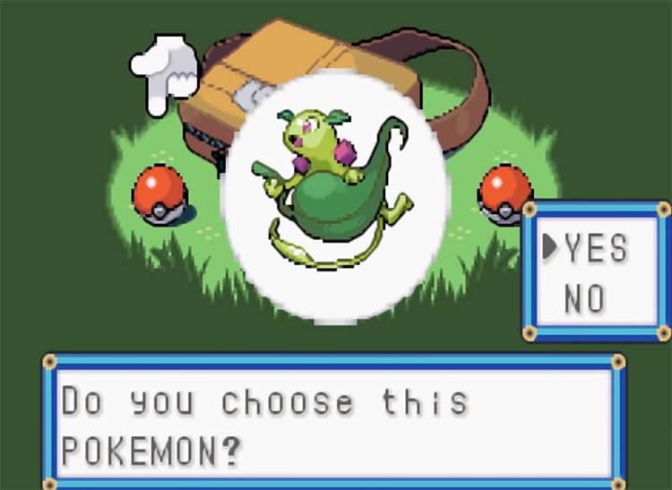 Altair Hack - Choosing New Starter Pokemon