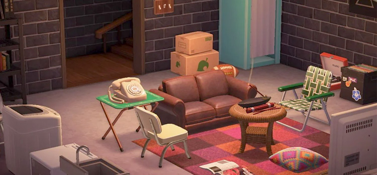 Eric Foreman That 70s Show Basement created in Animal Crossing: New Horizons