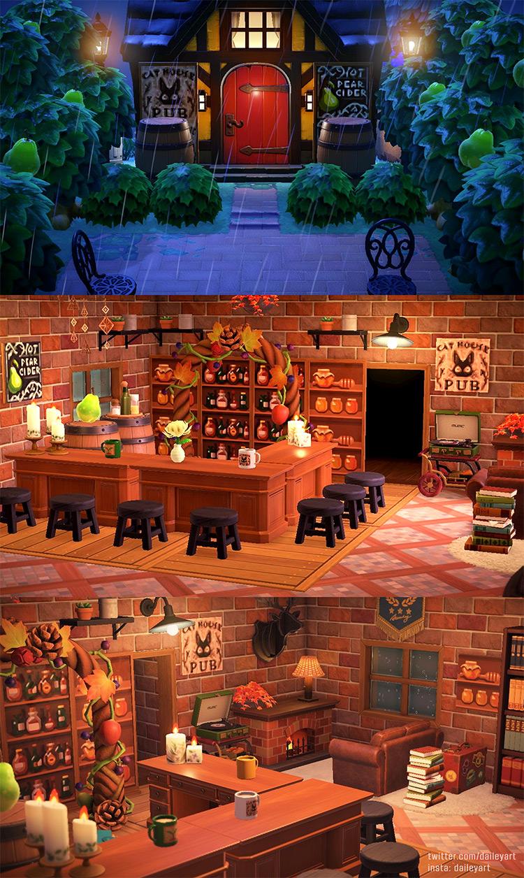 Indoor Basement Tavern in ACNH