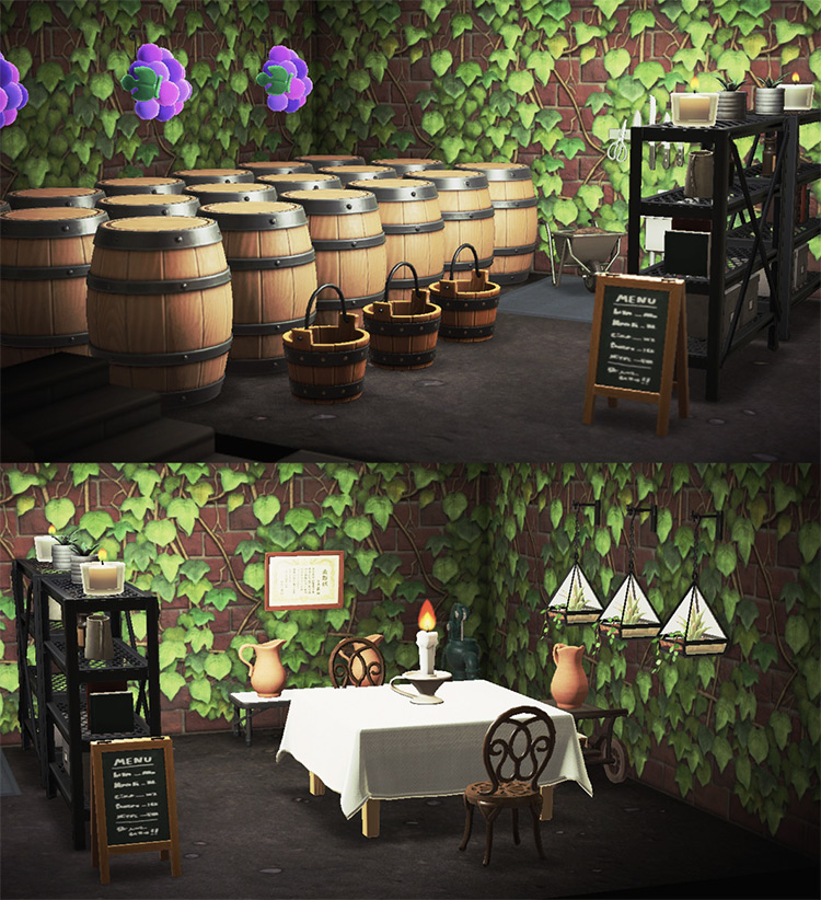 Wine Cellar Basement Idea in ACNH