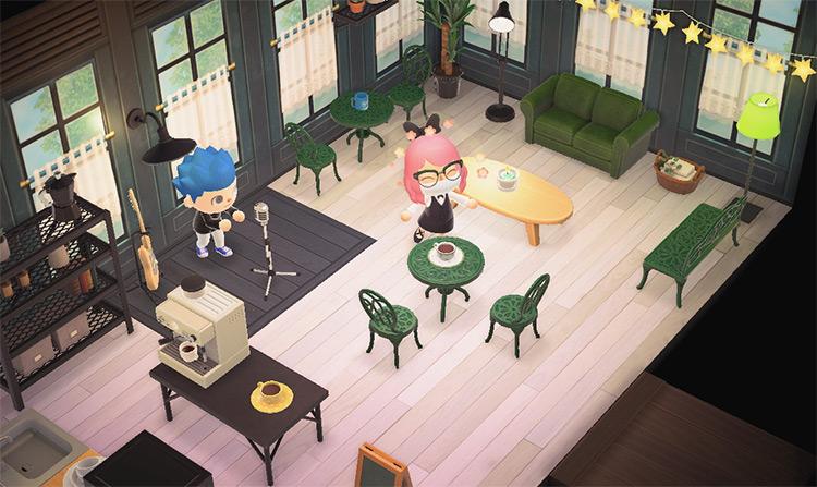 Coffee Café Basement Room - ACNH Idea