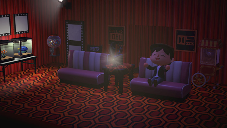 Basement Home Movie Theater Room Idea in ACNH