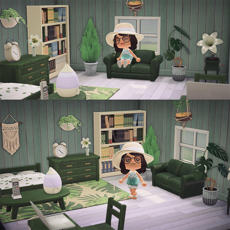 Guest Bedroom in Basement - ACNH Idea